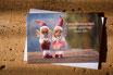 Weihnachtskarte B6: Zwei Engel am See