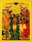 Christi Taufe im Jordan