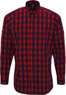 popline hemd langarm red/navy