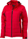 damen outdoor hybrid jacke red
