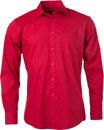 herren hemd langarm red