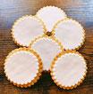 Blanko Kekse weiß