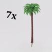 Palm trees / ferns large (variant 1)   Palmen/Farne groß (Variante 1)