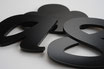Black Gloss 3mm Custom shape - Laser cut
