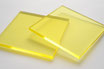 Tinted Yellow 3mm Rectangle/Square - Cut&Polish