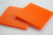 Orange 3mm Rectangle/Square - Laser cut