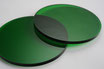 Tinted Green 3mm Circle - Cut&Polish