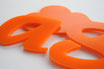 Orange 3mm Custom shape - Laser cut