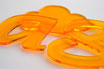 Tinted Orange 3mm Custom shape - Laser cut