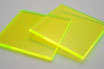 Luminous Green 3mm Rectangle/Square - Laser cut