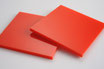 Red 3mm Rectangle/Square - Cut&Polish