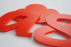 Red 3mm Custom shape - Laser cut
