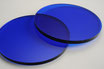 Tinted Dark Blue 3mm Circle - Laser cut