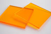 Tinted Orange 3mm Rectangle/Square - Cut&Polish