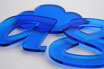 Tinted Blue 3mm Custom shape - Laser cut