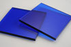 Tinted Dark Blue 3mm Rectangle/Square - Cut&Polish