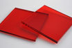 Tinted Red 3mm Rectangle/Square - Laser cut