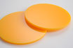 Orange Yellow 3mm Circle - Cut&Polish