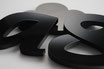 Black Gloss 5mm Custom shape - Laser cut