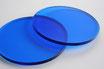 Tinted Blue 3mm Circle - Laser cut