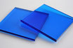 Tinted Blue 3mm Rectangle/Square - Cut&Polish