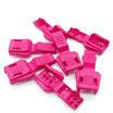 Kordelenden Kordelstopper pink