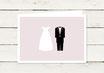 Hochzeitseinladung | Klappkarte | Brautpaar