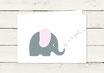Babykarte | Geburtskarte | Elefant | Mädchen