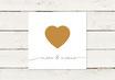 Hochzeitseinladung | Quadrat | Golddruck | Herz | No 1