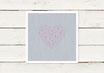 PDF Datei | Hochzeitseinladung | Quadrat | Herz | Geometrisch
