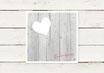 Hochzeitseinladung | Quadrat | Holzlook | No 2