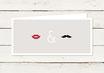 Hochzeitseinladung | DIN lang |Lippen & Moustache | No 2