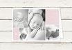 Babykarte | Geburtskarte | Danksagung | Taufkarte | Klappkarte | Mädchen