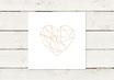 Hochzeitseinladung | Quadrat | Golddruck | Herz | No 2