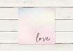 PDF Datei | Hochzeitseinladung | Quadrat | Pastell