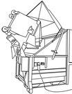 Müllpresse mit integrierter Kippvorrichtung