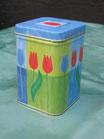 Teedose Tulpe blau-grün