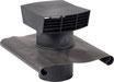 Chapeau de toiture plastique noir Ø200