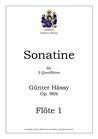 Sonatine für 2 Querflöten, op. 96b