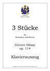 Drei Stücke für Kontrabass und Klavier, op. 114