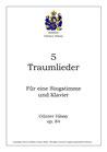 5 Traumlieder, op.84