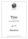 Trio für Querföte, Oboe und Harfe, op. 71