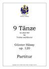 Neun Tänze im alten Stil für Violine, op. 120