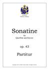 Sonatine für Querflöte und Klavier, op. 43