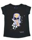 Feenreise 87/199 - Mädchen Kurzarm Shirt, 4-5 Jahre, schwarz