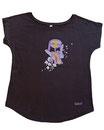 Feenreise 187/199 - Frauen Kurzarm Shirt, small, schwarz