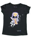 Feenreise 142/199 - Mädchen Kurzarm Shirt, 6-7 Jahre, schwarz