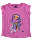 Feenreise 14/199 - Mädchen Kurzarm Shirt, 2-3 Jahre, bubble gum pink