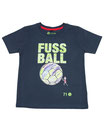 Fussball 75 - Kinder Kurzarm Shirt, 6-7 Jahre, washed navy