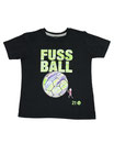 Fussball 25 - Kinder Kurzarm Shirt, 2-3 Jahre, schwarz